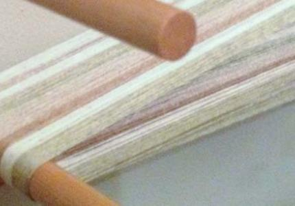 cotton on the warping board